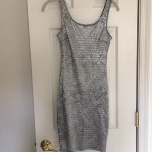 EUC Silver sparkly dress